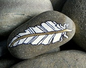 Peace Feather II / Painted Rock/ Sandi Pike Foundas/ Cape Cod