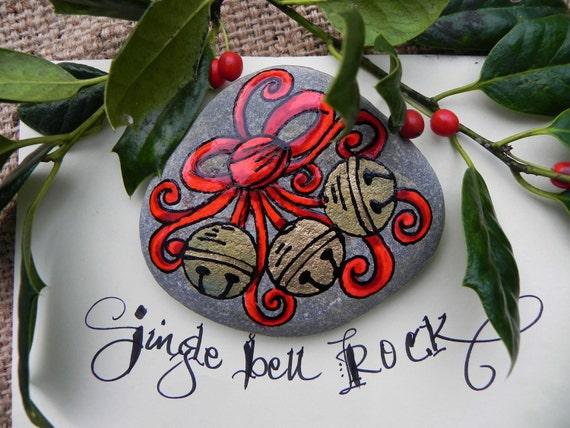 Jingle Bell ROCK / Painted Rock / Sandi Pike Foundas
