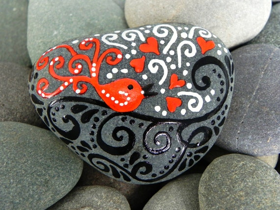 Sing a Song of Love / Painted Rock / Sandi Pike Foundas / Cape Cod