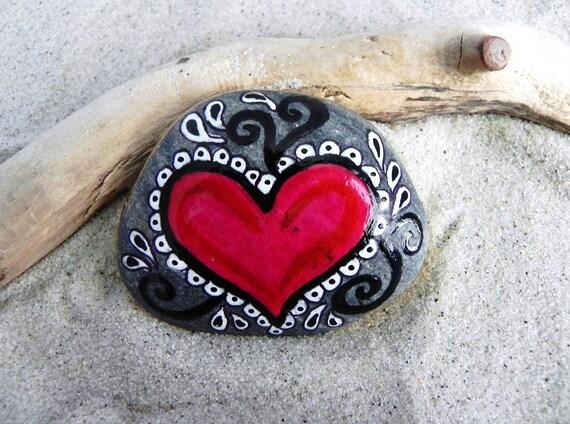 Rock Solid Love / Painted Rock /Sandi Pike Foundas