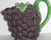 Vintage Purple Grape Style Serving Pitcher c.1960