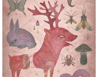 Venomous grove - A4 giclee print