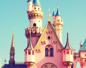 Fine Art Photography - Disneyland castle princess disney blue pink children baby girl nursery kids decor