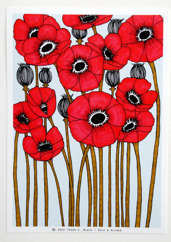 The Red Poppies - Illustration by: Taren S. Black