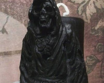 Grim Reaper Black Beeswax Candle