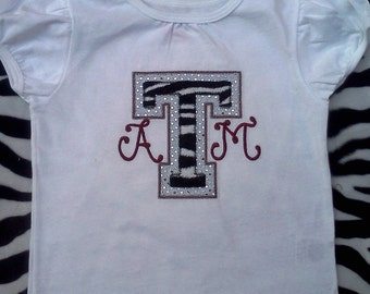 A&M Embroidered Shirt or Onesie - Reserved