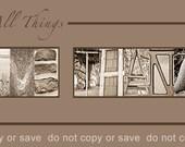 "10x20 ""GIVE THANKS"" Alphabet Art Photo UNFRAMED Design"