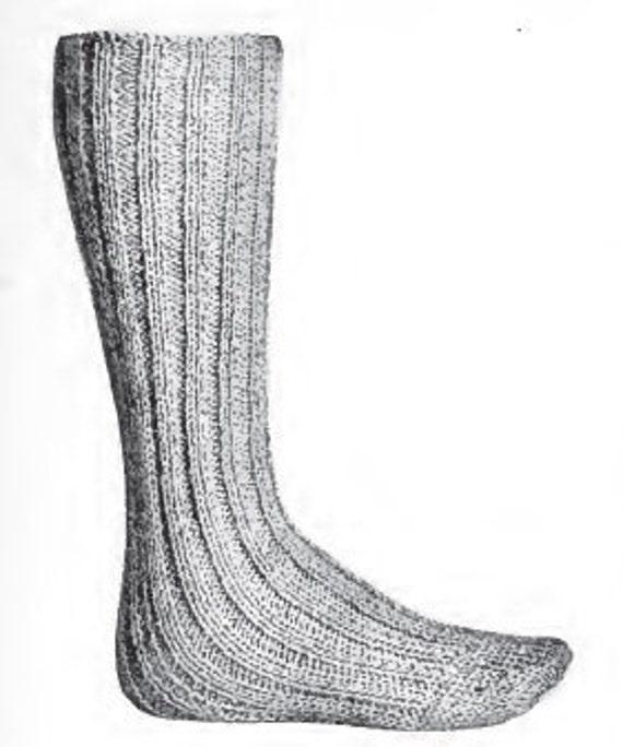 Men's Long Wool Socks Vintage 1916 Knitting Pattern PDF