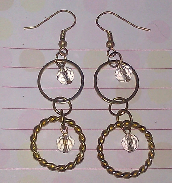 Set - Gold Beaded Necklace and Chandelier Earrings B1G1 Free