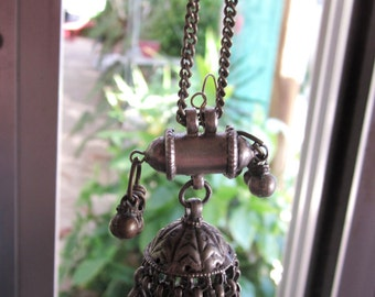 Antique Indian Solid Silver Earrings from Rajasthan northern India .Tribal, Ethnic,Gypsy, Chandelier. 'WA Street Team'  pierced