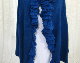 Ruffle Wrap - Denim