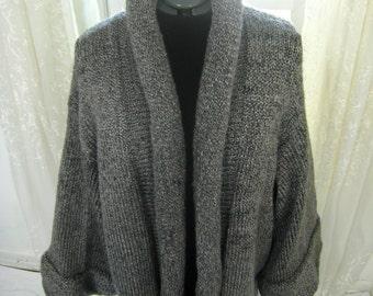 Short Roll Collar Clutch Coat - Silver Grey