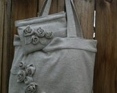 NEW LOWER PRICE- Tote & Clutch set upcycled from sweater