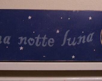 Buona Notte Luna sign