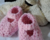 Baby mary janes 0 to 3 month Pink - Ready to ship
