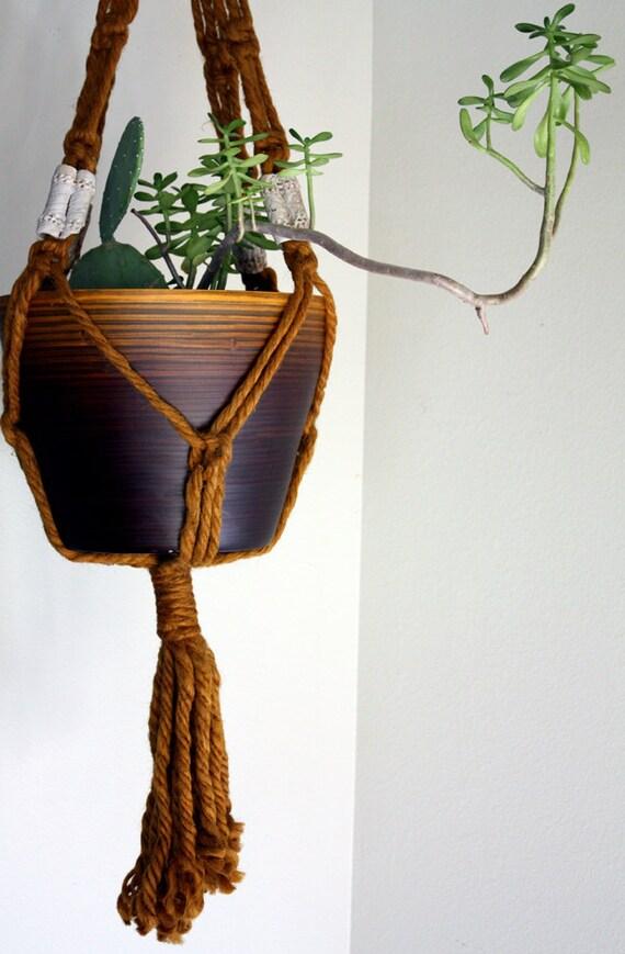 Gold Boho Macrame Plant Hanger Flower Pot
