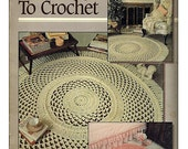 Lace Rugs to Crochet Pattern Leisure Arts 2269
