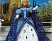 Sapphire Queen  Crochet Pattern Annies Fashion Doll Crochet Club FC30/01