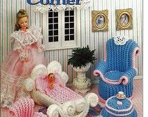 Barbie Furniture, Mother's Corner, Annies Attic Crochet Furniture Pattern