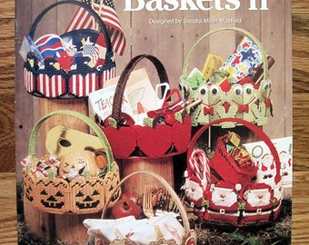 Seasons of Baskets II for Plastic canvas Pattern Book The Needlecraft Shop 953317