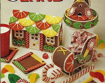 Gingerbread Land in Plastic Canvas Pattern Book 87P31  by Vicki Blizzard