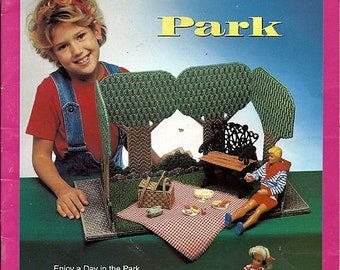 Fashion doll Carry and Play Park Plastic Canvas Pattern The Needlecraft Shop 943739