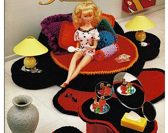 Bedroom Jazz   Crochet bedroom fits Barbie  Annies Attic 541B