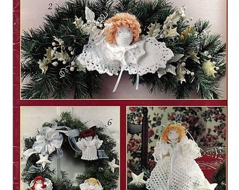 Sweet Christmas Angels -Crochet Pattern Book Leisure Arts 2679