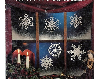 Snowflakes - Crochet pattern booklet - Leisure Arts Leaflet 892