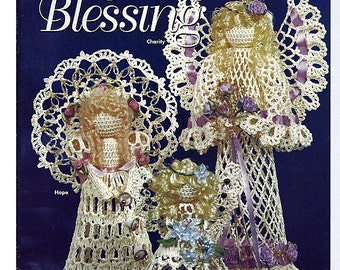 Angels of Blessing - Charity, Hope and Faith - Thread Crochet Patterns House of White Birches 101052