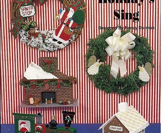 Let The Holiday's Sing Plastic Canvas Pattern Book 181