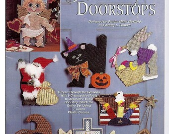 Holiday Doorstops  Plastic Canvas Pattern Leaflet  The Needlecraft Shop 963368