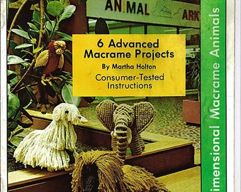 Macrame Pets 6 Advanced Macrame animal Projects Macrame Pattern Book 7218