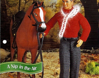 A Nip In The Air Crochet Pattern for Ken Annies fashion Doll Crochet Club