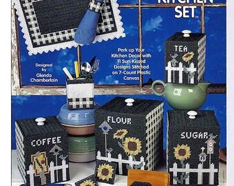 Sunflower Kitchen Set Plastic Canvas Pattern The Needlecraft Shop 973013
