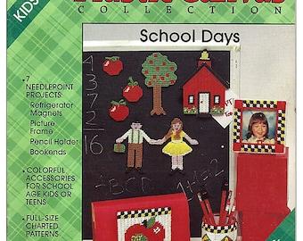 Kids Projects School Days Plastic Canvas Pattern Plaid's 8138