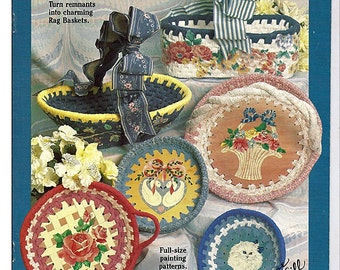 French country Rag Baskets Suzanne McNeill Book No. 2052