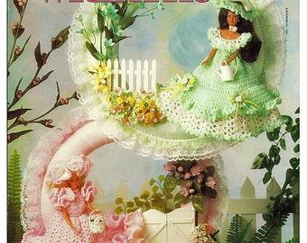 Fashion Doll Garden Party Wreaths Crochet Pattern Book Annies Attic 87D76