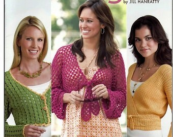 Shrugs Quick to Stitch Crochet Pattern Annies Attic 878554