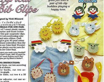 Baby Blessings Bib Clips Plastic Canvas Collector's Series Pattern The Needlecraft Shop 954010