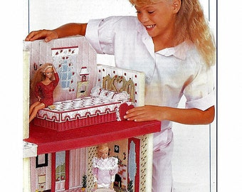 Fashion Doll Playhouse   Barbie Plastic Canvas Pattern   Annies Attic 87R50