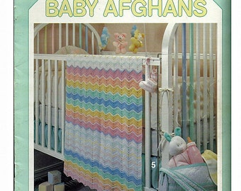 Rainbow Baby Afghans Crochet Pattern book Leisure Arts 2260