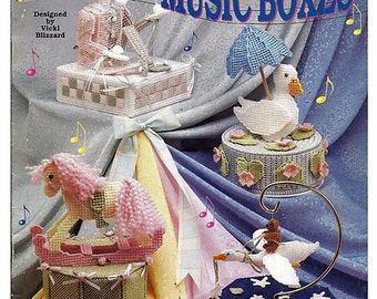 "Classic ""Music Boxes Plastic Canvas Pattern  The Needlecraft Shop 923331"