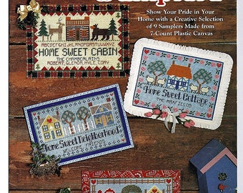 Home Sweet Home Samplers Plastic Canvas Pattern  The Needlecraft Shop 953949