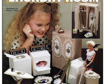Barbie  Plastic Canvas Pattern Fashion Doll Dream Home Laundry Room The Needlecraft Shop 933722