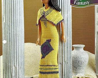Eqyptian Fantasy Crochet Pattern Annies Fashion Doll Crochet Club FC35-02