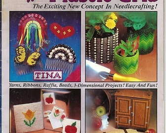 Crafting With Plastic Grid -A 1980 Plastic Canvas Pattern Book