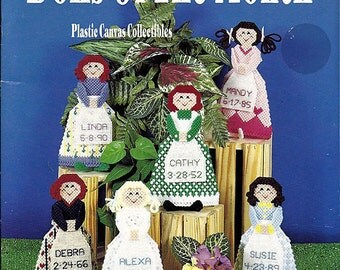 Dolls of the Month Plastic Canvas Pattern Kappie Originals Book 149