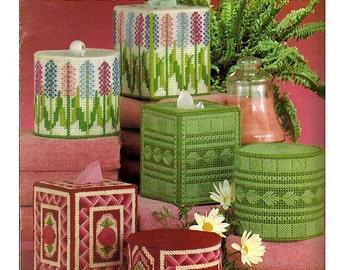 Bathroom Tissue sets in Plastic Canvas Pattern Book Leisure Arts Leaflet 237