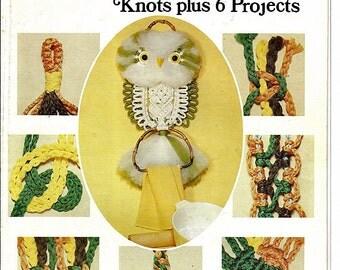 Encyclopedia of Macrame Knots plus 6 Projects  Macrame Pattern Book GM 15
